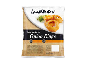Lamb Weston Beer Battered Onion Rings 1kg