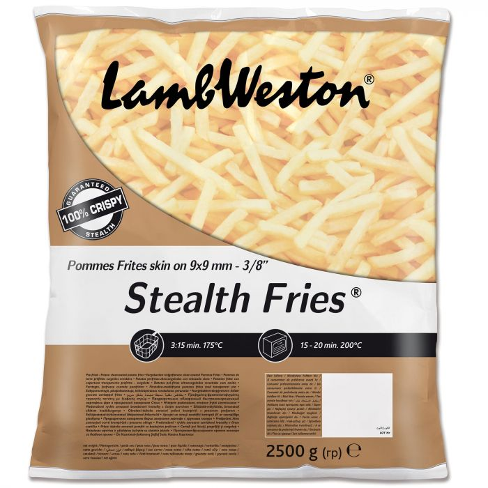 Lamb Weston Skin On Stealth Fries 9x9 2.5kg