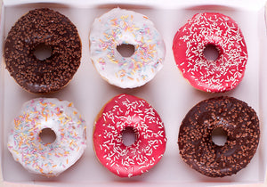 Mixed Iced Ring Donuts 6 Pack