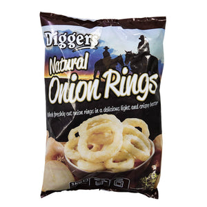 Diggers Battered Natural Onion Rings 1kg