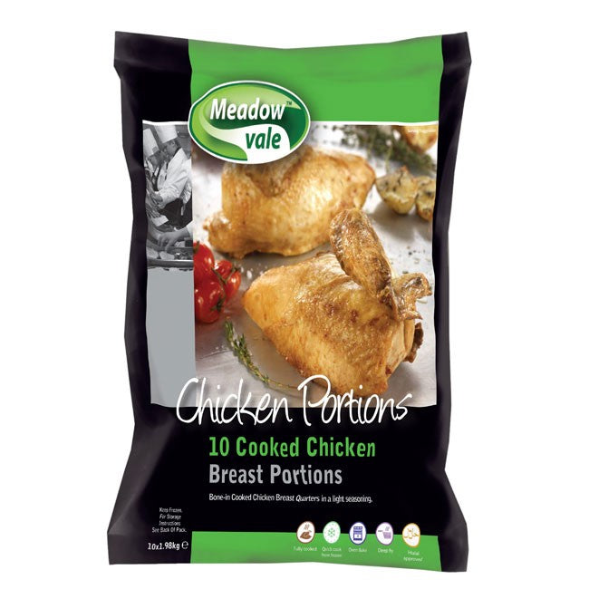 Meadow Vale Cooked Chicken Breast Portions 9-11oz 10 Pack