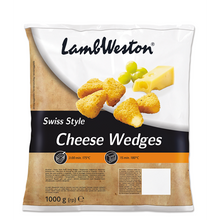 Load image into Gallery viewer, Lamb Weston Swiss Style Cheese Wedges 1kg