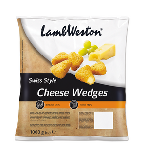 Lamb Weston Swiss Style Cheese Wedges 1kg