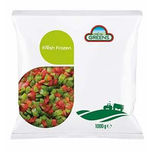 Greens Frozen Mixed Peppers 1kg