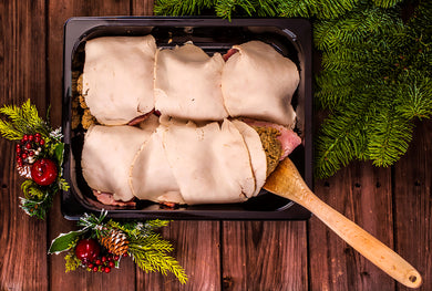 Rustic Kitchen Turkey & Ham Portions With Stuffing 6 Pack.
