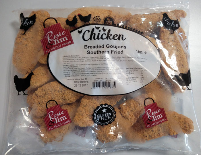 Rosie & Jim Southern Fried Chicken Goujons 1kg