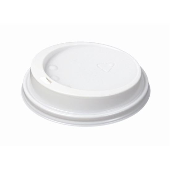 Disposable Cups White Lids 25 pack