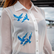 "BLOUSE ""SPARKLING BIRDS"" DAMEN"