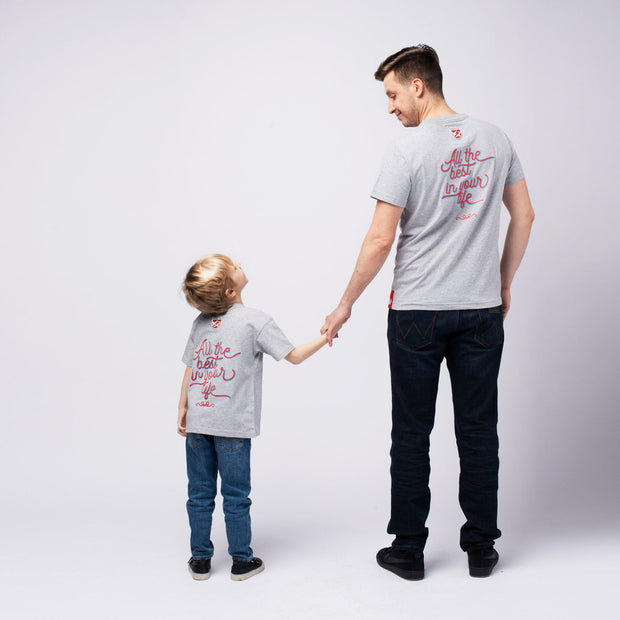 "T-SHIRT ""DAD & SON"" JUNGEN t-shirt Birds of Love Fashion"