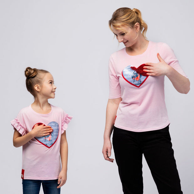 "T-SHIRT ""GOOD DAUGHTER"" MÄDCHEN t-shirt Birds of Love Fashion"