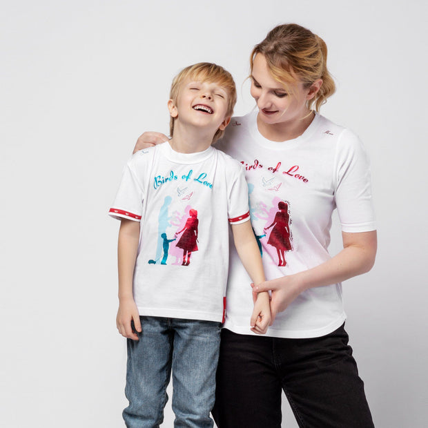 "T-SHIRT ""MOM & SON"" DAMEN t-shirt Birds of Love Fashion"