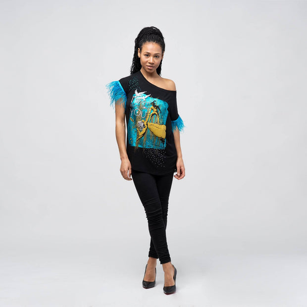 "T-SHIRT ""I WAIT HERE FOR YOU"" DAMEN t-shirt birdsoflove"