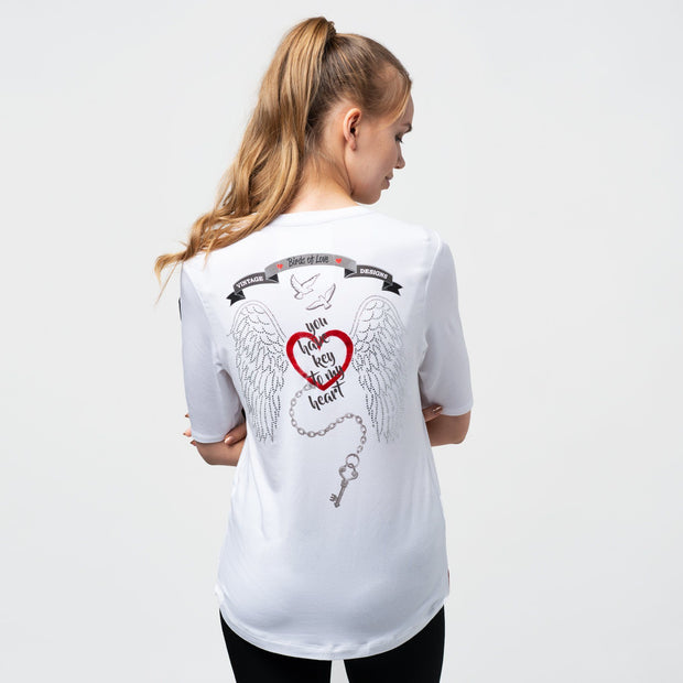 "T-SHIRT ""MY BIRD"" DAMEN t-shirt birdsoflove"