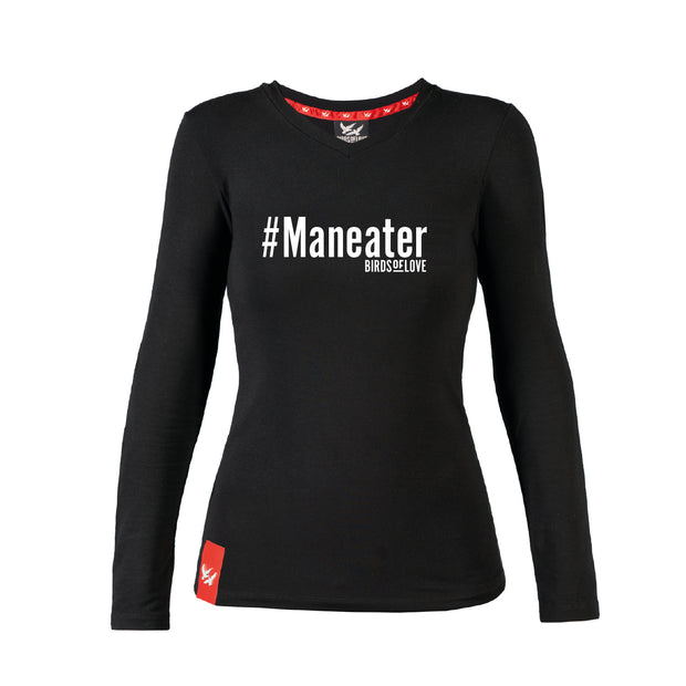 T-SHIRT «MANEATER» DAMEN LANGE ÄRMEL