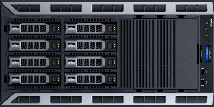 T330 ( 8 x 3.5-inch ) rack view
