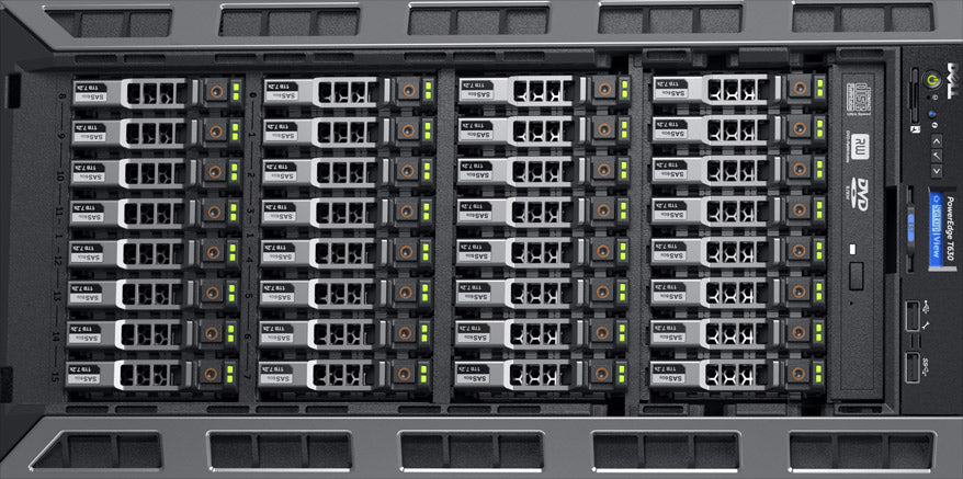 T630 ( 32 x 2.5-inch) rack view