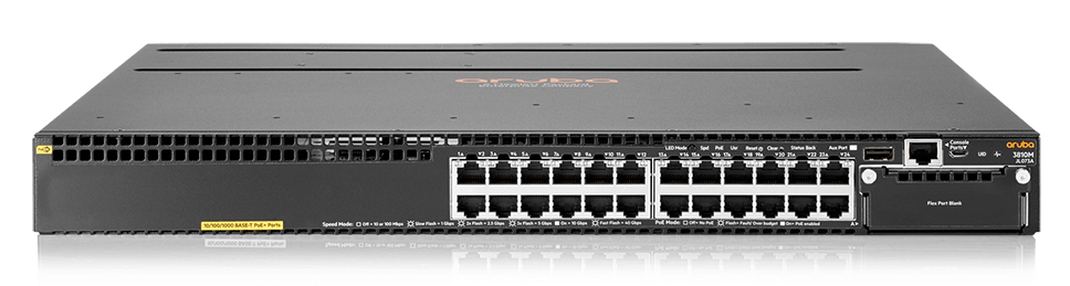 HPE JL073A Aruba 3810M 24G PoE+ 1-slot Switch