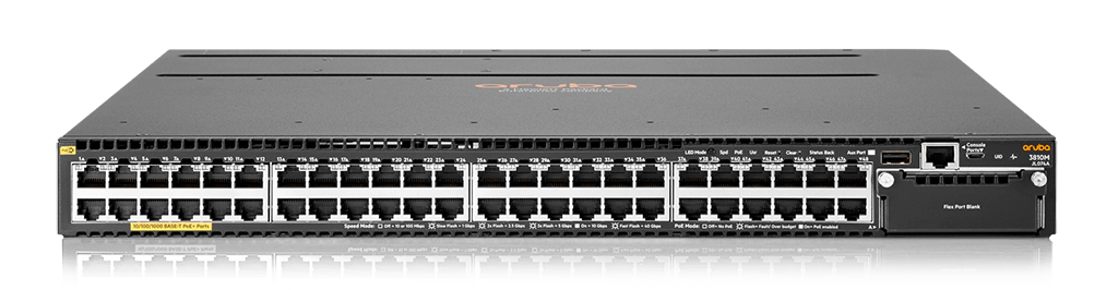 HPE JL074A Aruba 3810M 48G PoE+ 1-slot Switch