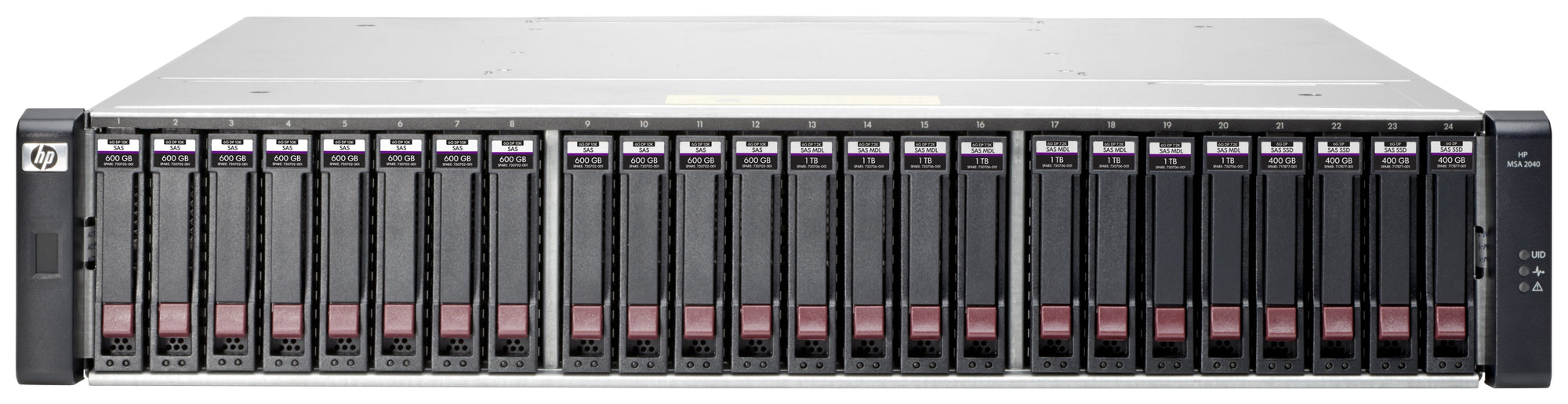 Q0F72A - HPE MSA 2042 SAN Dual Controller with mainstream endurance SSD SFF Storage