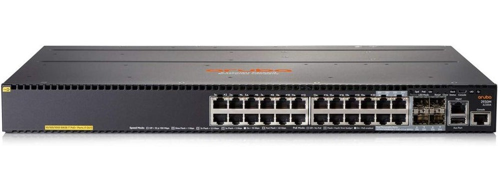 HPE JL320A Aruba 2930M 24G PoE+ 1-slot Switch