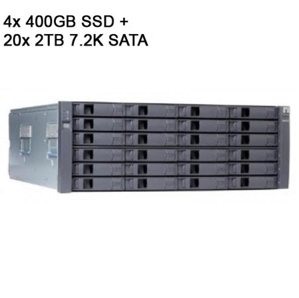 NetApp DS4246 Disk Shelf with 4x 400GB SSD (X575A-R6) + 20x 2TB 7.2K SATA (X306A-R5)