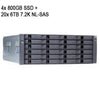 NetApp DS4246 Disk Shelf with 4x 800GB SSD (X449A-R6) + 20x 6TB 7.2K nl-sas (X316A-R6)