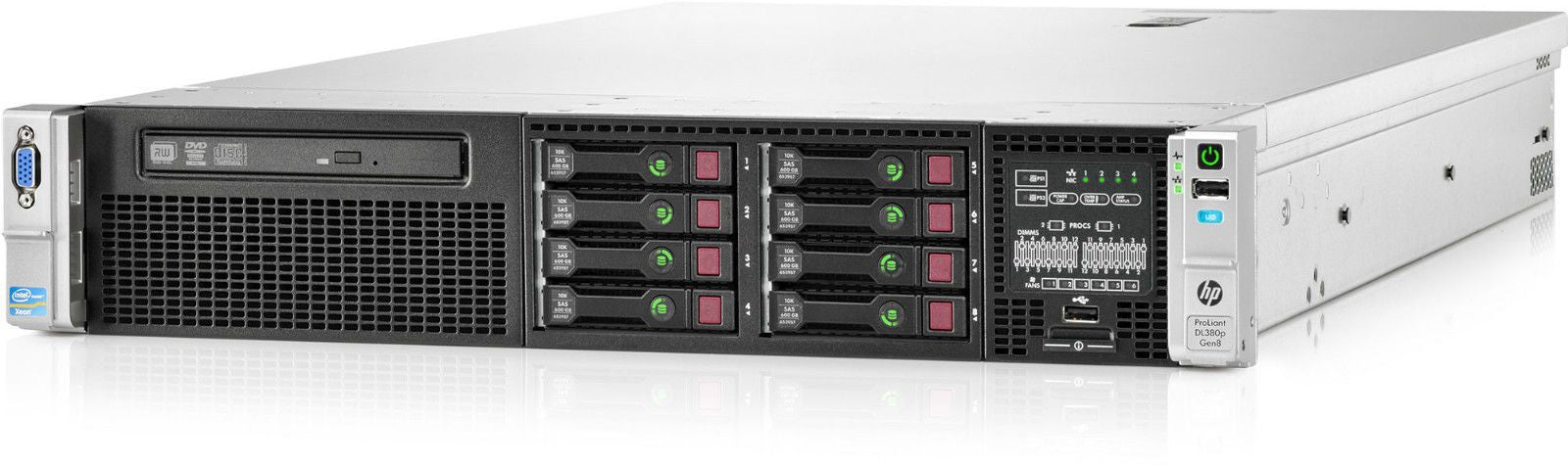 653200-B21 - HPE ProLiant DL380p Gen8 8SFF Server Chassis