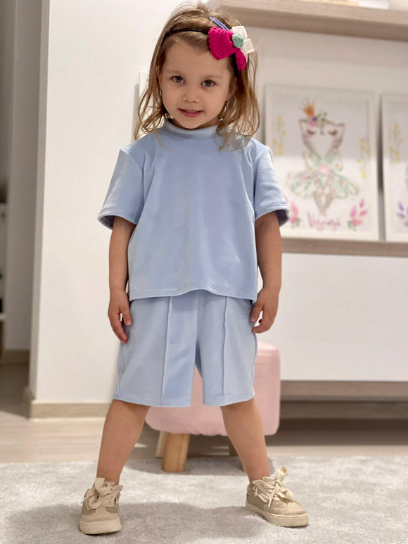 Costum Mini Alisa - Baby Blue