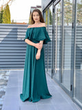 Rochie Lunga ELIZA GLAMOUR - VERDE INCHIS