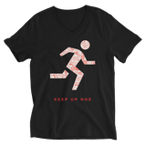 """KEEP UP"" Short Sleeve V-Neck T-Shirt"