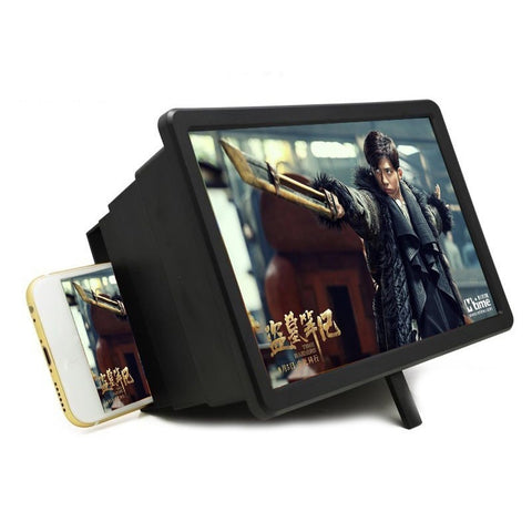 Phone Screen Magnifier 3D HD Movie Video Amplifier with Foldable Lazy Phone Stand