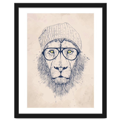 Cool Lion Framed Artwork