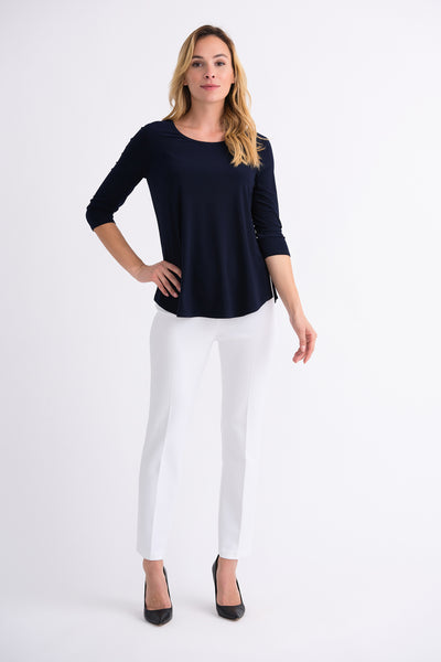 Joseph-Ribkoff-navy-3/4-sleeve-top