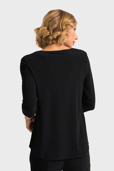 Joseph-Ribkoff-black-3/4-sleeve-top-back