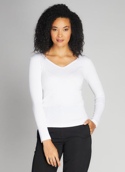 C'est-Moi-ribbed-modal-V-neck-top-white.