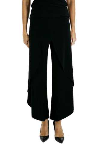 Black Layered Evening Pant