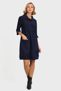 Joseph-Ribkoff-navy-petite-fitting-dress.