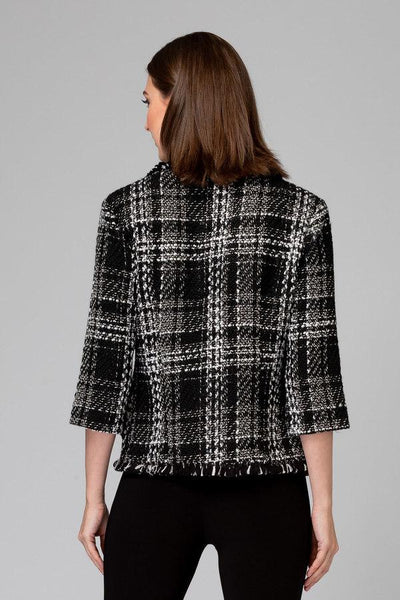 Joseph-Ribkoff-black-white-plaid-jacket-back