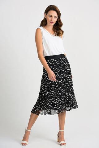 Joseph-Ribkoff-black-white-polka-dot-skirt