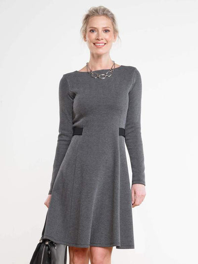 Miik-Tatum-grey-herringbone-fit-and-flare-dress