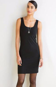 Miik-Yara-black-basic-petite-reversible-sleeveless-dress-scoop-front.