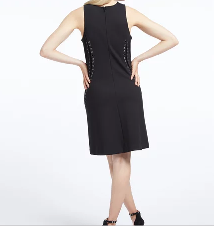 nic-&-Zoe-sleeveless-black-grommet-petite-dress-back