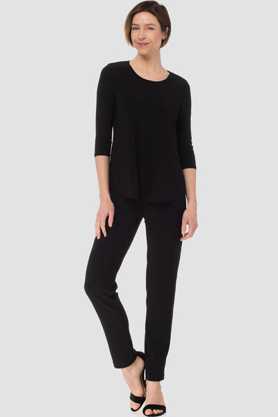 Joseph-Ribkoff-black-3/4-sleeve-top-styled