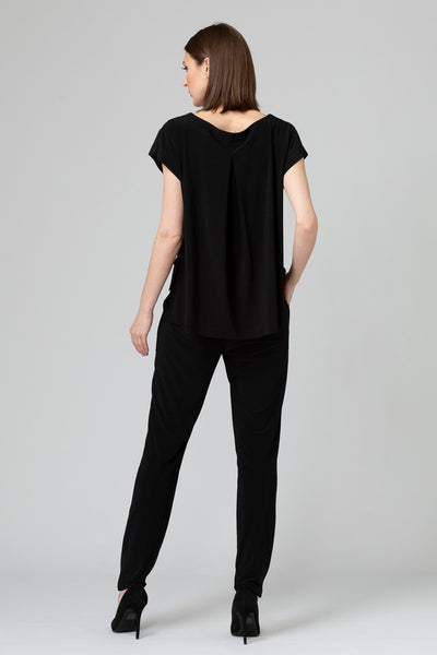 Joseph-Ribkoff-open-drape-back-jumpsuit-black-back.