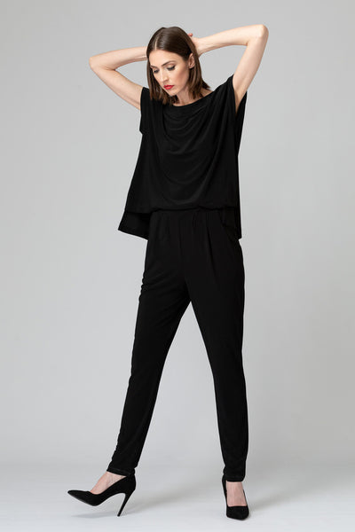 Joseph-Ribkoff-open-drape-back-jumpsuit-black-animated