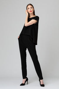 Joseph-Ribkoff-open-drape-back-jumpsuit-black