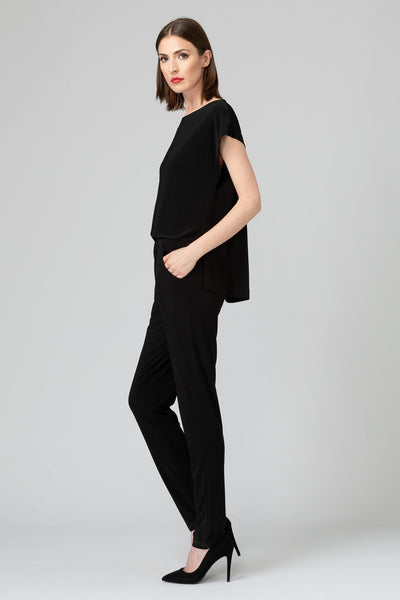 Joseph-Ribkoff-open-drape-back-jumpsuit-black-side.