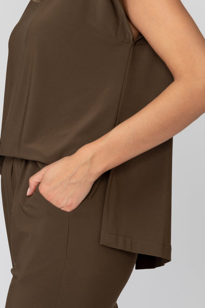 Joseph-Ribkoff-open-drape-back-jumpsuit-safari-pocket-closeup