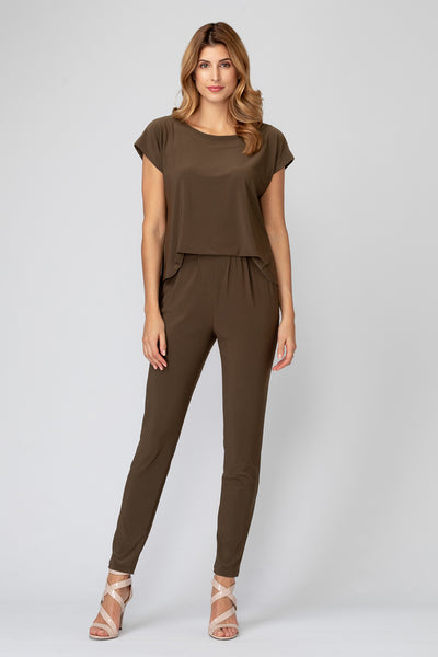 Joseph-Ribkoff-open-drape-back-jumpsuit-safari-front-view