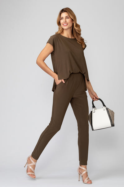 Joseph-Ribkoff-open-drape-back-jumpsuit-safari